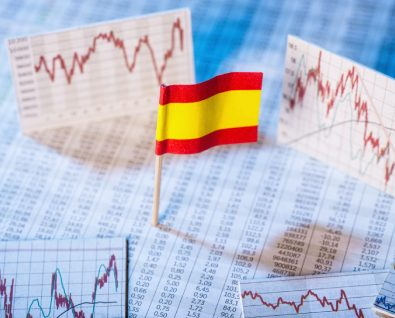 Bandera España y gráficos